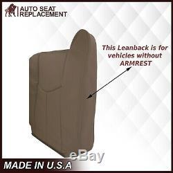 2003-2007 GMC Sierra Chevy Silverado Work Truck Leather Seat Covers Tan 52V-522