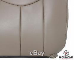 2003-2007 GMC Sierra Work Truck SL Base -Driver Lean Back Vinyl Seat Cover Tan