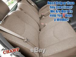 2003-2007 GMC Sierra Work Truck SL WT-Passenger Side Bottom Cloth Seat Cover Tan