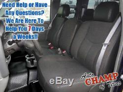 2003 GMC Sierra 3500 Work Truck SL-Driver Side Bottom Cloth Seat Cover Dark Gray