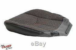 2004 2005 2006 Chevy 3500 Work Truck-Driver Side Bottom Cloth Seat Cover Dk Gray