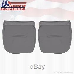 2004 2005 Ford F250 XL Work Truck Driver & Passenger Bottom Vinyl Seat Cover GRY
