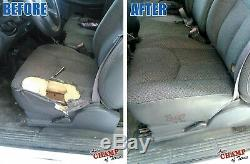 2005 2006 Chevy 2500 HD Work Truck-Driver Side Bottom Cloth Seat Cover Dark Gray
