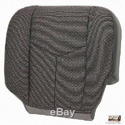 2005 2006 GMC Sierra 3500 Work Truck Driver Bottom Cloth Seat Cover Dark Gray