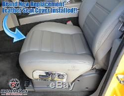 2005 Hummer H2 SUT Truck SUV 4X4 -Driver Side Bottom Leather Seat Cover Black