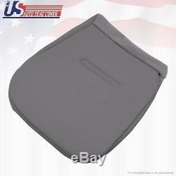 2006 2007 Ford F450 XL Work Truck Driver & Passenger Bottom Vinyl Seat Cover GRY