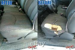 2006 2007 GMC Sierra 3500 Work Truck-Driver Side Bottom Cloth Seat Cover Dk Gray