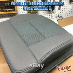 2007 2008 Ford F150 XL Work Truck Base -Driver Side Bottom Cloth Seat Cover Gray