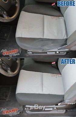2007-2009 GMC Sierra Work Truck -Driver Side Bottom Cloth Seat Cover Black/Gray