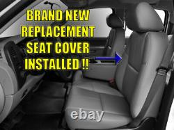 2007-2013 GMC Sierra 1500 Work Truck-Driver Side LEAN BACK Vinyl Seat Cover GRAY