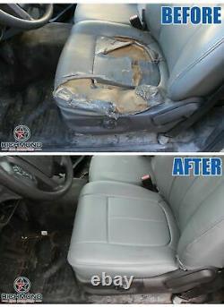 2007-2014 Chevy Silverado Work Truck-Passenger Side Bottom Vinyl Seat Cover Gray