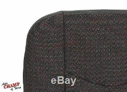 2007 Chevy 1500 Classic Work Truck-Driver Side Bottom Cloth Seat Cover Dark Gray
