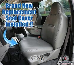 2007 Ford F250 F350 F450 XL Work Truck -Driver Side Bottom Vinyl Seat Cover Gray