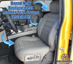 2007 Hummer H2 SUT Truck SUV 4X4 -Driver Side Complete Leather Seat Covers Black