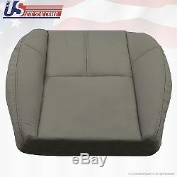 2007 to 2014 Chevy 2500 HD WT Work Truck Driver Bottom Vinyl Seat Cover Med Gray