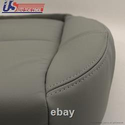 2007 to 2014 Chevy 3500 HD WT Work Truck Driver Bottom Vinyl Seat Cover Med Gray