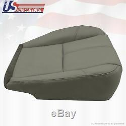2007 to 2014 Chevy Silverado Work Truck Driver Bottom Vinyl Seat Cover Med Gray