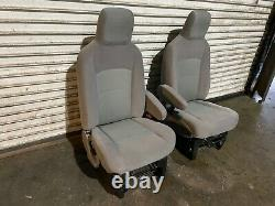2009-2020 Ford Van E150 E250 E350 Front Seats Seat Gray Cloth Only (57k) Oem