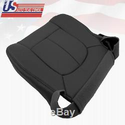 2009 Ford F150 Work Truck Front Driver Bottom Synthetic Leather Seat Cover Black