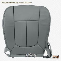 2011 2012 Ford F150 Work Truck DRIVER Bottom Replacement Seat Cover VINYL GRAY