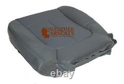 2011-2014 Ford F150 Work Truck Quad Cab Driver Bottom Vinyl Seat Cover Gray