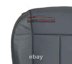 2011 Ford F150 Work Truck XL Driver Bottom Replacement Vinyl Seat Cover Gray