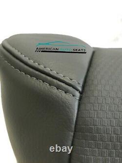 2012 Ford F150 Work Truck XL Driver Bottom Replacement Vinyl Seat Cover Gray