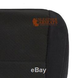 2013 2014 Chevy Silverado Work Truck LS, LT Driver Bottom Cloth Seat Cover Black