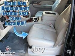 2013 Avalanche LT Black Diamond Ed Truck-Driver Bottom Leather Seat Cover Gray