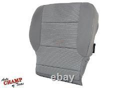 2014-2019 GMC Sierra Work Truck WT HD-Driver Side Bottom Cloth Seat Cover Gray