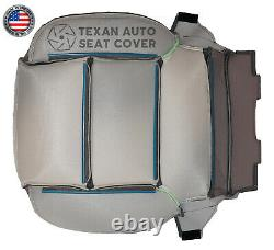 2014 Chevy Silverado 1500HD Work Truck, Base Driver Bottom Vinyl Seat Cover Gray