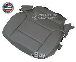 2014 to 2018 GMC Sierra 1500HD Work Truck Driver Bottom Vinyl Seat Cover Gray