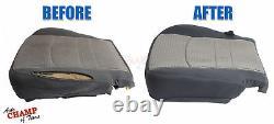 2015 2016 GMC Sierra 1500 Work Truck WT-Driver Side Bottom Cloth Seat Cover Gray