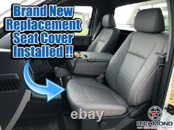 2015-2020 Ford F-150 XL Work Truck Base-Driver Side Bottom Vinyl Seat Cover Gray