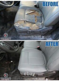 2015-2020 Ford F150 Work-Truck Base WT -Driver Side Bottom Vinyl Seat Cover Gray