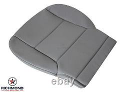2015 Chevy 2500 3500 Work Truck Base WT-Driver Side Bottom VINYL Seat Cover Gray