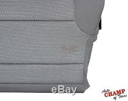 2017 2018 Chevy Silverado 1500 Work Truck WT-Driver Bottom Cloth Seat Cover Gray