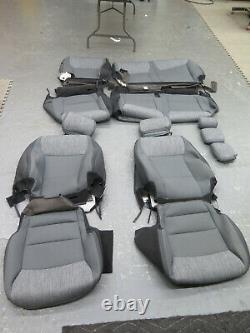 2021 Ford F150 XLT crew truck OEM F/R seat cover set dk slate