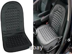 2x UNIVERSAL Car Van Taxi Truck Seat Cover Black Massage Health Cushion PAIR