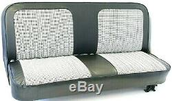 67-72 Chevy/GMC C10 Truck Black/White Houndstooth Bench Seat Cover Made in USA