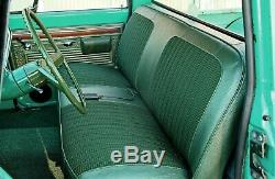 67-72 Chevy/GMC C10 Truck Green Houndstooth Bench Seat Cover Made in USA