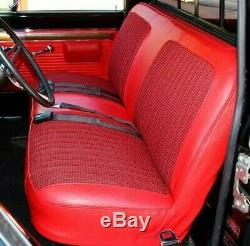 67-72 Chevy/GMC C10 Truck Red Houndstooth Bench Seat Cover Made in USA