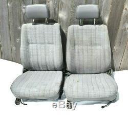 84-89 Toyota Pickup Truck 4Runner Bucket Seats Seat OEM Gray Trim Cloth 85 86 87