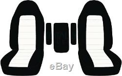 92-01 Ford F-150/F-250/F-350 Truck Captains Chairs 2-Tone Seat Covers +3 Armrest