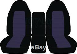 93-98 Ford F-150/F-250/F-350 40-20-40 2-Tone Truck Seat Covers +Console F-Series