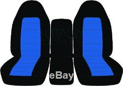 94-08 Dodge Ram 40/20/40 2-Tone Truck Seat Covers w Console/Armrest Split Bench