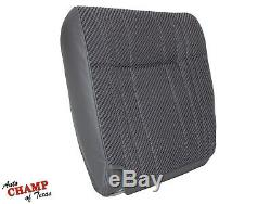94-97 Dodge Ram Work Truck-Driver Side Bottom & Lean Back Cloth Seat Covers Gray