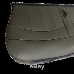 98 03 Ford F150, F250, Work Truck V6 GAS XL Bottom Bench Seat cover Vinyl GRAY