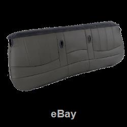 98 03 Ford F150, F250, Work Truck V6 GAS XL Bottom Bench Seat cover Vinyl GRAY