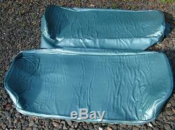 American truck seat cover made to measure for a 1955-57 chevy truck aqua blue
